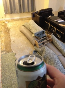 Bye bye carpet, hello beer!