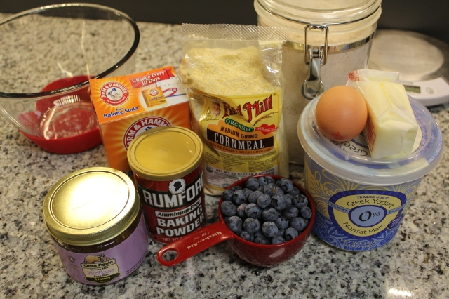 blueberry cornbread ingredients