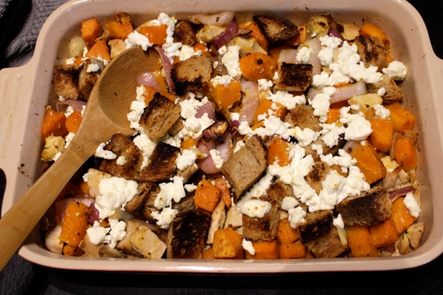 Butternut Squash and Goat Cheese Bake