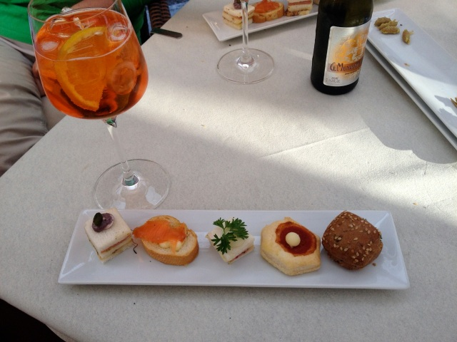 Italian Happy Hour: Aperol Spritz and free tiny snackies