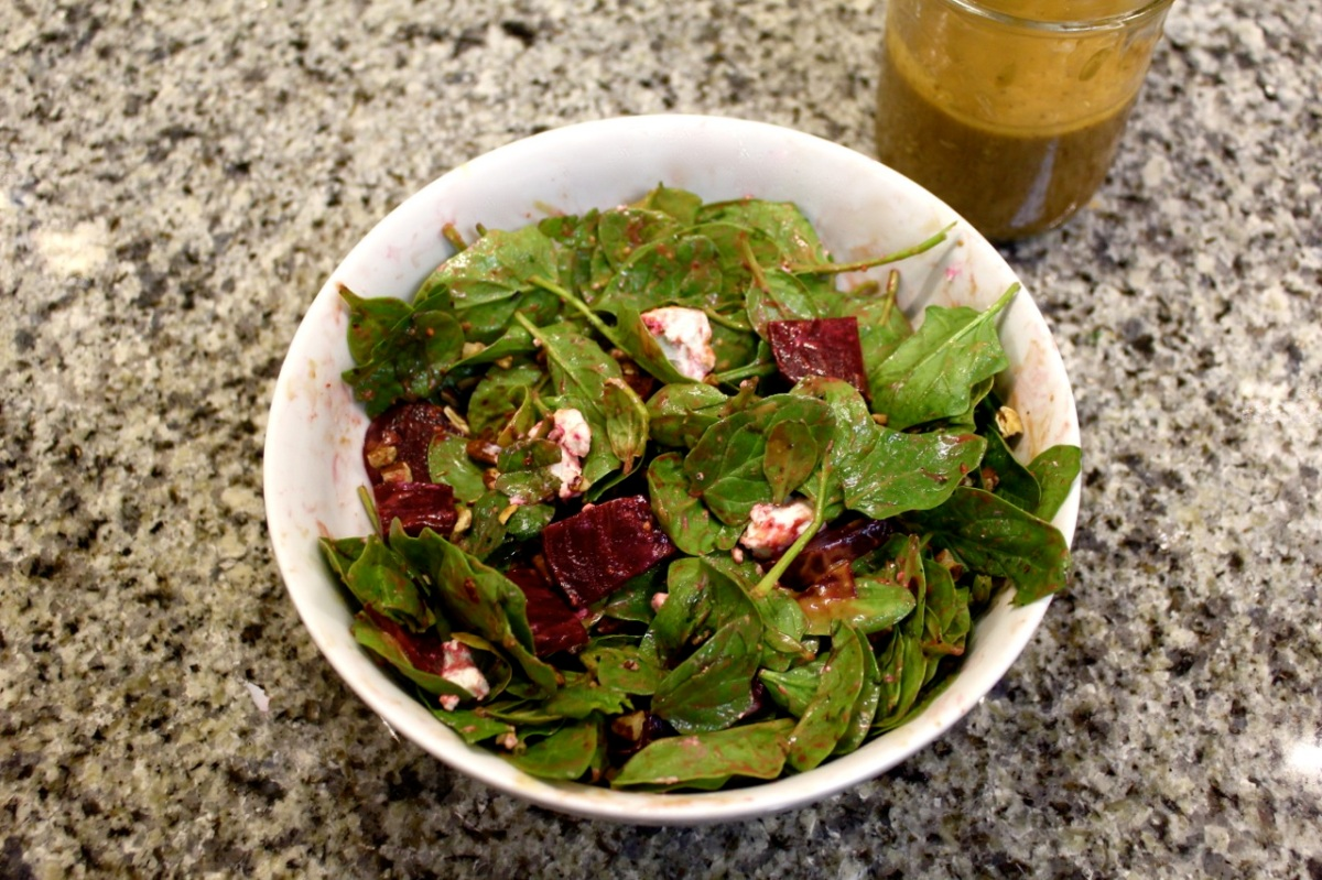 Slow-Roasted Beet & Goat Cheese Salad
